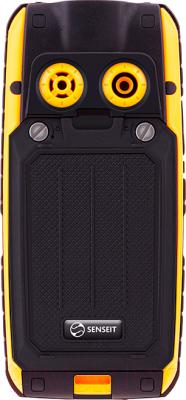 Мобильный телефон Senseit P101 (желтый) - вид сзади