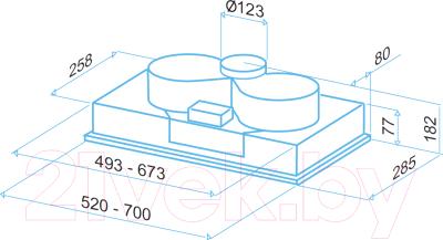 Вытяжка скрытая Best P740 70 (серый)