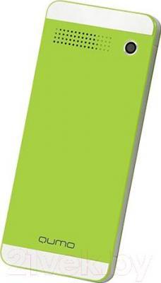 Мобильный телефон Qumo Push 242 Dual (зеленый) - вид сзади