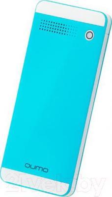Мобильный телефон Qumo Push 242 Dual  (синий) - вид сзади