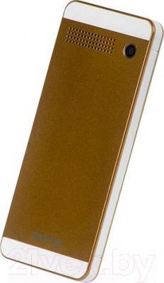 Мобильный телефон Qumo Push 242 Dual (бронза) - вид сзади