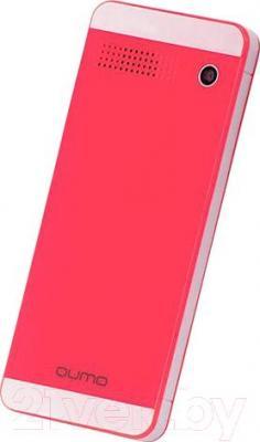 Мобильный телефон Qumo Push 242 Dual (розовый) - вид сзади