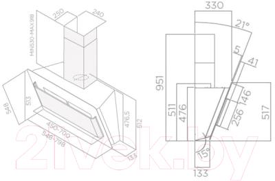 Вытяжка декоративная Elica Belt Lux BL/A/80