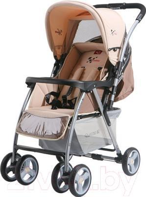 Детская прогулочная коляска Adamex Caddy (бежево-кремовый)