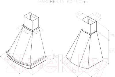 Вытяжка купольная Best Margherita 90 650м3/ч (белый)