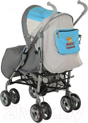 Детская прогулочная коляска Adamex Jimmy (голубой) - вид сзади