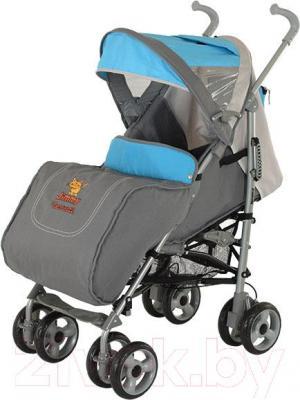 Детская прогулочная коляска Adamex Jimmy (голубой) - чехол для ног