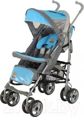 Детская прогулочная коляска Adamex Jimmy (голубой) - общий вид