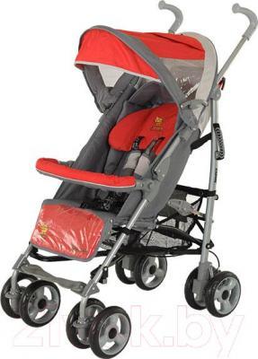Детская прогулочная коляска Adamex Jimmy (розовый) - общий вид