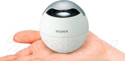 Портативная колонка Sony SRS-BTV5 (белый) - общий вид