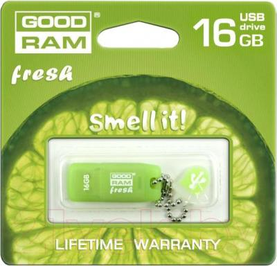 Usb flash накопитель Goodram GOODDRIVE Fresh Limonka 16 Gb (PD16GH2GRFLR9) - общий вид