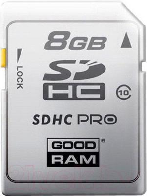 Карта памяти Goodram SDHC (Class 10) 8GB (SDC8GHC10PGRR9) - общий вид
