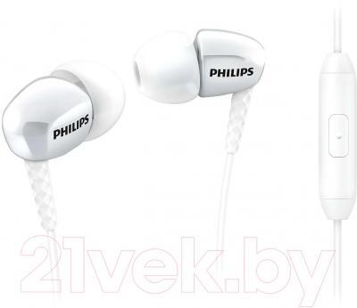 Наушники-гарнитура Philips SHE3905WT/51 - общий вид