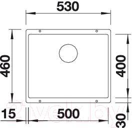 Мойка кухонная Blanco Subline 500-U / 513413 - схема