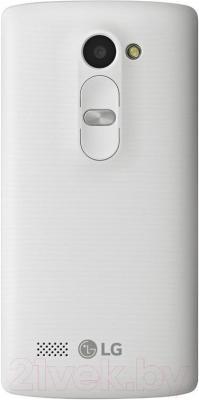 Смартфон LG Y50 Dual Leon / H324 (белый) - вид сзади