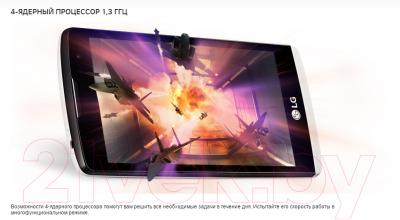Смартфон LG Y50 Dual Leon / H324 (черно-золотой)