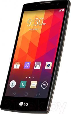 Смартфон LG Y70 Dual Spirit / H422 (черно-золотой) - вполоборота