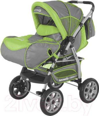 Детская универсальная коляска Adamex Gustaw 2 (серо-зеленый) - общий вид
