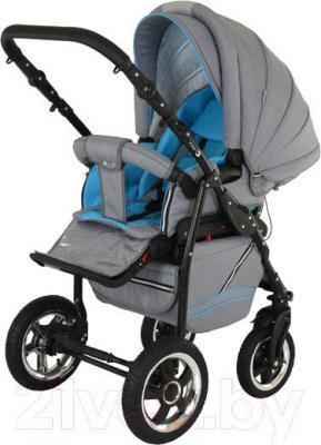 Детская универсальная коляска Adamex Mars (сине-голубой) - прогулочная