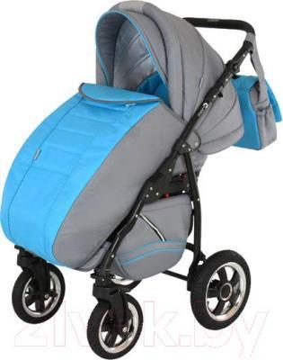 Детская универсальная коляска Adamex Mars (сине-голубой) - чехол для ног
