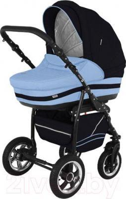 Детская универсальная коляска Adamex Mars (сине-голубой) - общий вид