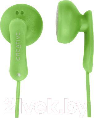 Наушники Creative EP-220 (зеленый) - общий вид