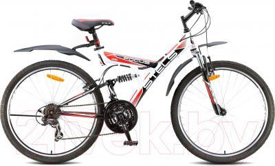Велосипед Stels Focus V 21 sp (бело-черно-красный)