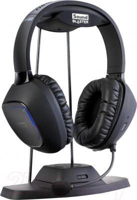 Наушники-гарнитура Creative Sound Blaster Tactic3D Omega SBX (черный) - общий вид