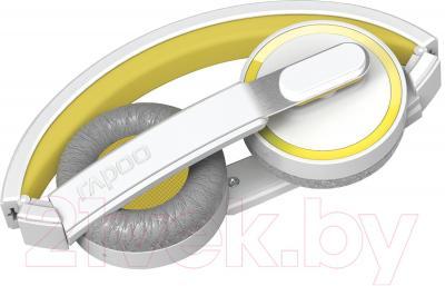 Наушники-гарнитура Rapoo H6080 (желтый) - в сложенном виде