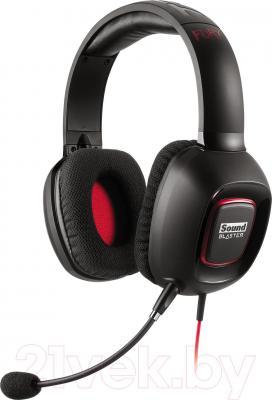 Наушники-гарнитура Creative Sound Blaster Tactic 3D Fury (черно-красный) - общий вид