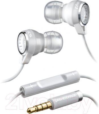 Наушники-гарнитура Plantronics Backbeat 216 (белый) - общий вид