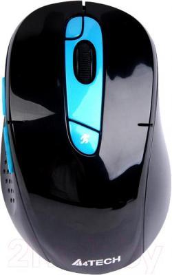 Мышь A4Tech G11-570HX-3 (черно-синий) - общий вид