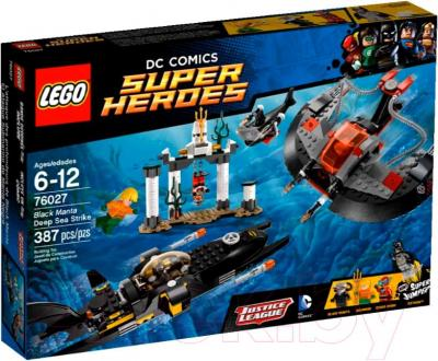 Конструктор Lego Super Heroes Глубоководная атака Черного Манта (76027) - упаковка