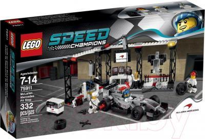 Конструктор Lego Speed Champions Пункт техобслуживания McLaren Mercedes (75911) - упаковка