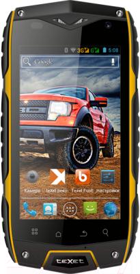 Смартфон TeXet X-driver / TM-4104R (черно-желтый + внешний АКБ) - общий вид