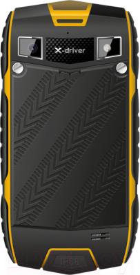 Смартфон TeXet X-driver / TM-4104R (черно-желтый + внешний АКБ) - вид сзади