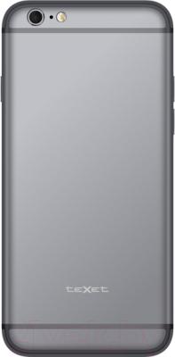 Смартфон TeXet iX-maxi / TM-4982 (серебристый + АЗУ) - вид сзади