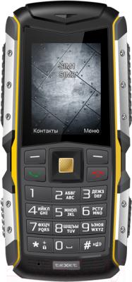 Мобильный телефон TeXet TM-511R (черно-желтый + автомобильное ЗУ) - общий вид