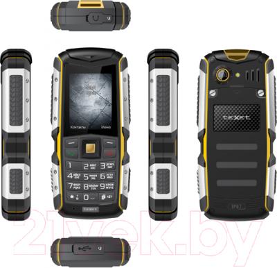 Мобильный телефон TeXet TM-511R (черно-желтый + автомобильное ЗУ) - полный обзор панелей
