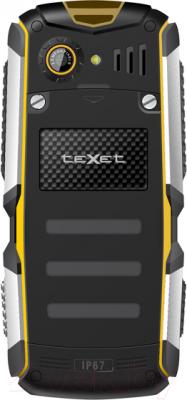 Мобильный телефон TeXet TM-511R (черно-желтый + автомобильное ЗУ) - вид сзади