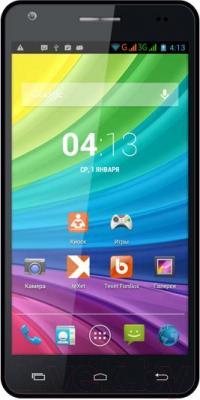 Смартфон TeXet X-maxi qHD / TM-5172  (черный + внешний АКБ) - общий вид