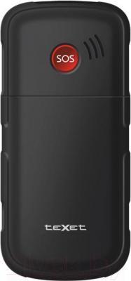 Мобильный телефон TeXet TM-B113 (черный + автомобильное ЗУ) - вид сзади