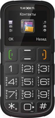 Мобильный телефон TeXet TM-B113 (черный + автомобильное ЗУ) - общий вид