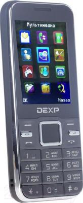 Мобильный телефон DEXP Larus M2 (серый) - общий вид