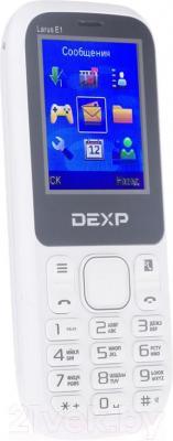 Мобильный телефон DEXP Larus E1 (белый) - общий вид