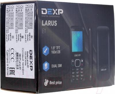 Мобильный телефон DEXP Larus E1 (черный) - упаковка