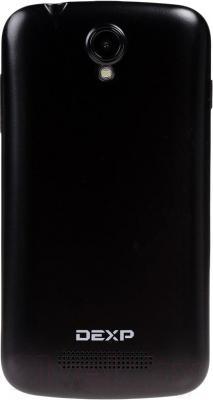 """Смартфон DEXP Ixion M 3.5"""" (черный) - вид сзади"""