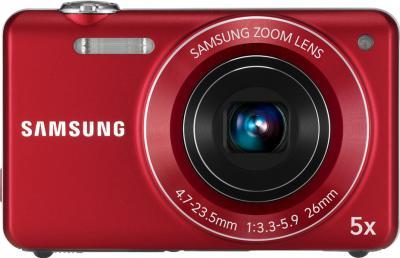 Компактный фотоаппарат Samsung ST93 (EC-ST93ZZBPRRU) Red - вид спереди
