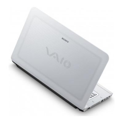 Ноутбук Sony VAIO VPCCA3S1R/W - сзади открытый