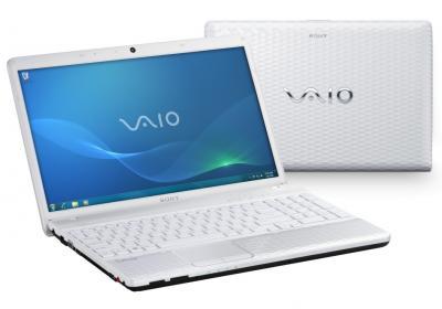 Ноутбук Sony VAIO VPC-EH2E1R/W - спереди и сзади